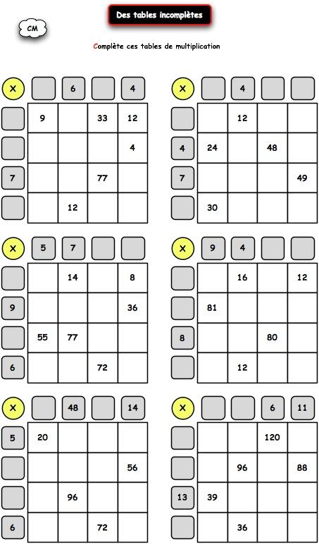 ... 26 08 05 la table de multiplication multiplier retenir ses tables de
